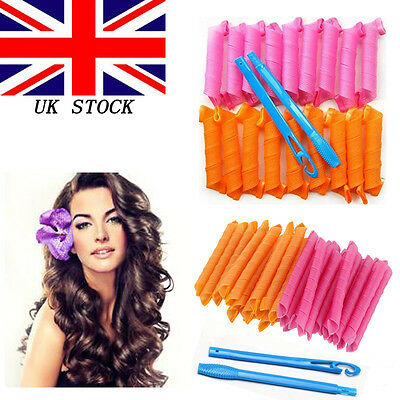 18/40PCS DIY 55CM Magic Leverag Hair Curlers Tool Styling Rollers Spiral Circle