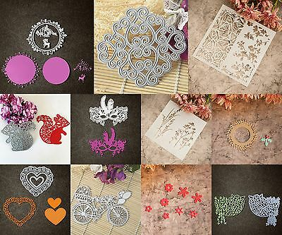 Mixed Metal Cutting Dies Stencil for DIY Scrapbooking Embossing Decor Craft Card