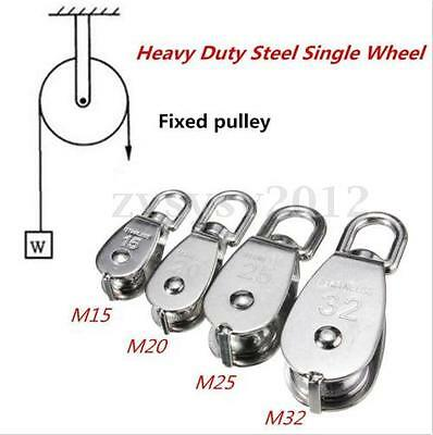 Steel Single Wheel Loading Swivel Lifting Rope Pulley Block M15 M20 M25 M32 UK