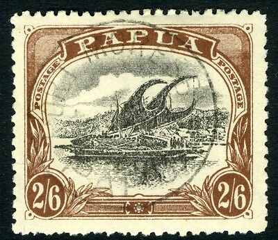 PAPUA-1910-11 2/6 Black & Brown (C).  A very fine used example Sg 83