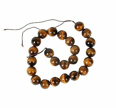 String of 16mm Round Tiger Eye Beads for Jewellery Making (T2CS)