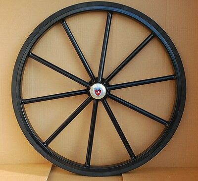 """27"""" Pair of Solid Rubber Tires for Easy Entry style Horse carts"""