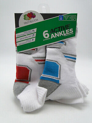 10pr Boys' Hanes Cushion Ankle Socks Large 3-9