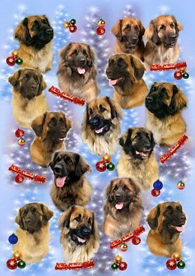 Leonberger Dog Christmas Wrapping Paper Design by Starprint