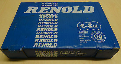 """NEW Renold 60-2 Steel Roller Chain 10' Long, 3/4"""" (19.05mm) Pitch"""