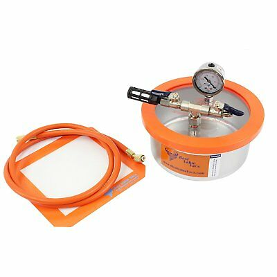 Best Value Vacs 2 Quart Flat Stainless Vacuum and Degassing Chamber