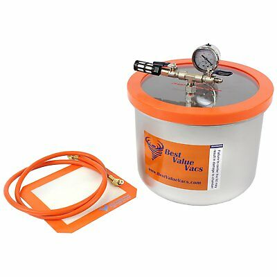 3 Gallon WIDE Stainless Steel Vacuum Chamber
