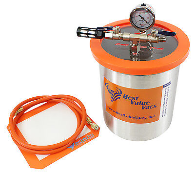Best Value Vacs 3 Gallon Stainless Steel Vacuum and Degassing Chamber