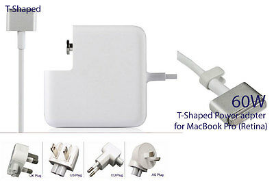 """60W T-style Connector Power Adapter Charger for MacBook Pro (Retina) 15""""-inch"""