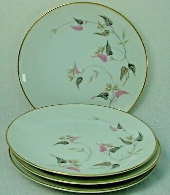 """NORITAKE china ARDEN 5603 pattern Bread & Butter Plate -Set of Four (4) @ 6-3/8"""""""