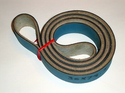 Flat Drive Belt Leather 78 x 1-3/16 inch Composite