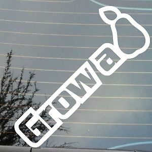 sticker 14 colours Funny JDM or Euro vinyl car or toolbox decal Grow a pear