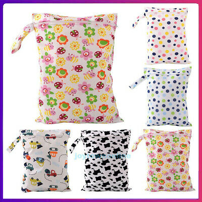 Waterproof Reusable Baby Diaper Bag Washable Wet Dry Cloth Zip Nappy Organizer