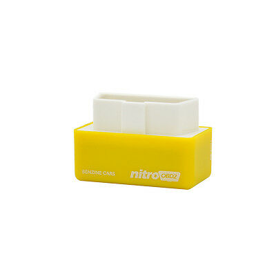 Nitro OBD2 Performance Chip Tuning Box Works For Gasoline Cars Vehicle Yellow