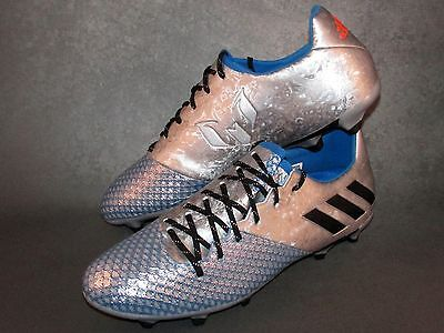 Adidas Messi 16.2 FG/AG Soccer Cleats Silver/Blue (Sizes 7-13)