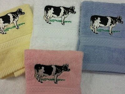 A PERSONALISED GREEN TRACTOR FACE CLOTH  NAME EASTER GIFT FLANNEL  EMBROIDERED!