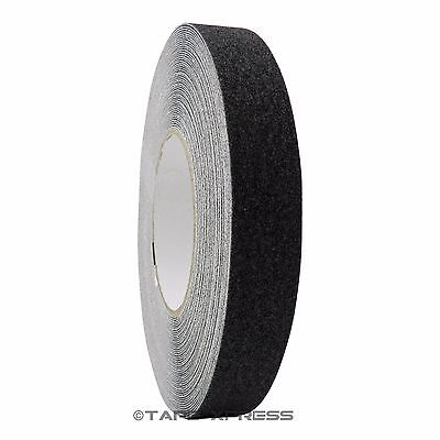 "1"" x 60 Black Non Skid Adhesive Tape 60 Grit Grip Anti Slip Traction Safety"