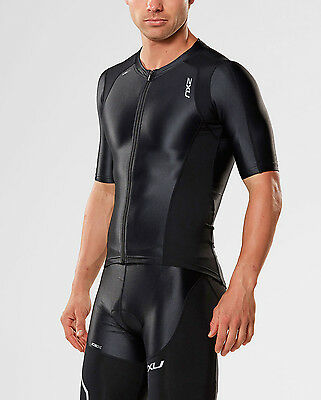 NEW 2XU COMPRESSION SLEEVED TRI TOP Mens Shirts