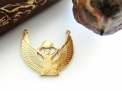 BRASS ISIS Egyptian Winged Goddess Stamping - Finding (D-15) `