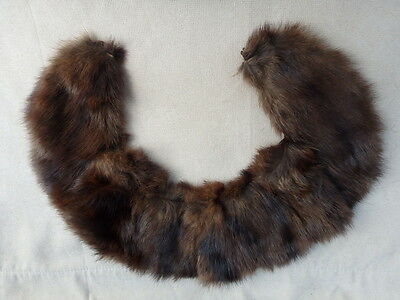 Vintage Small Mink Round Collar Accessory Brown Fur