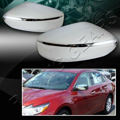 For Nissan Altima SL//SE 4-DR Mirror Chrome ABS Plastic Side Mirror Cover LH+RH