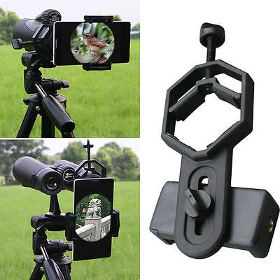 Universal 25-48mm Telescope Cell Phone Mount Adapter Spotting Scope Eyepiece