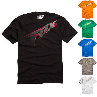 Fox Adult Redcard Casual MTB MX Cycle Short Sleeve SS Tee T-Shirt - Clearance