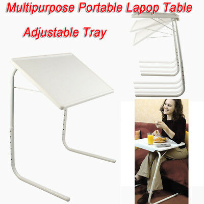 Foldable Table Laptop Adjustable Tray Bed Portable Desk Bed Mate TV Dinner New