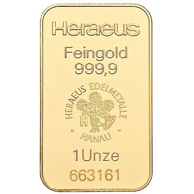 Barren Gold 1 oz Goldbarren 1 Unze