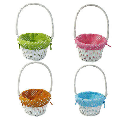 Off White Wicker Willow Round Basket Decoration Gift Hamper Basket Four colours