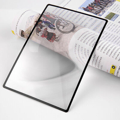 A5 Flat PVC Magnifier Sheet 180x120mm Book Page Magnifying Reading Glass Lens
