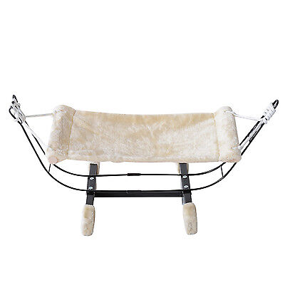 PawHut Cat Hammock Hanging Swing Bed Kitten Puppy Comfy Warm Nest Metal Frame