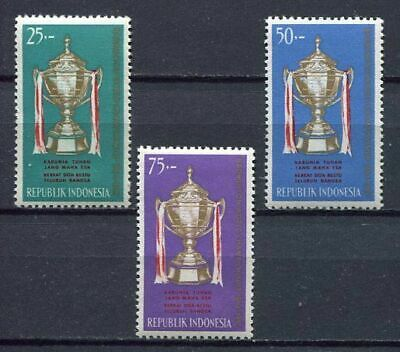 38195) INDONESIA 1964 MNH** Thomas cup 3v Badminton