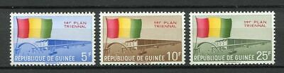 27191) GUINEA 1961 MNH** Nuovi** First Three-Year Plan 3v