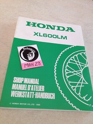 Honda XL600LM XLM 600 revue technique moto workshop service Manuel
