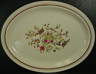 ROYAL DOULTON china GAIETY LS1014 pattern OVAL MEAT Serving PLATTER 16-3/8""