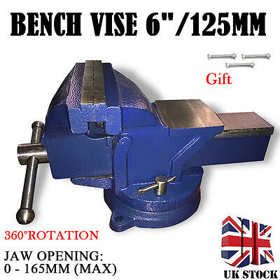 """Heavy Duty 6"""" Work Bench Vice Vise Workshop Clamp Engineer Jaw Swivel Base Table"""