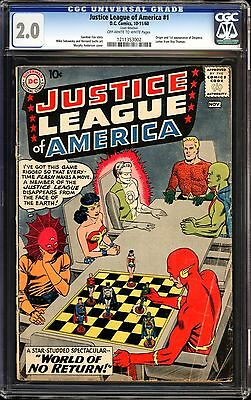 Justice League of America #1 CGC 2.0