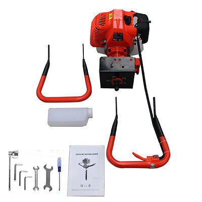62cc 2HP Petrol Powered Earth Auger Post Hole Borer Ground Drill with 3 Bits