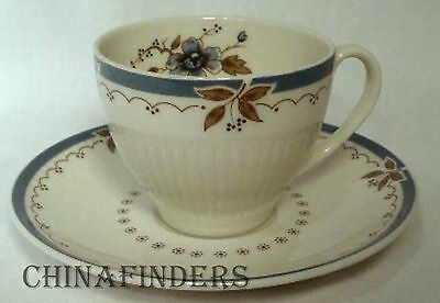 ROYAL DOULTON china OLD COLONY TC1005 pattern DEMITASSE CUP & SAUCER set