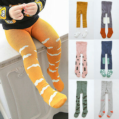 Cute Baby Girls Boys Toddler Kids Soft Cotton Tights Stockings Socks Pantyhose A