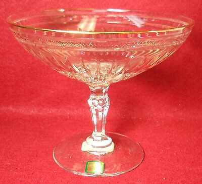 """WATERFORD crystal HANOVER GOLD Marquis Compote - 5-3/4"""" tall x 7"""" wide"""