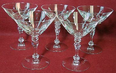TIFFIN crystal KINGSTON 17651 Set of Two (2) Tall Sherbet Champagne Goblets