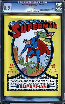 Superman Masterpiece Edition #1 CGC 8.5