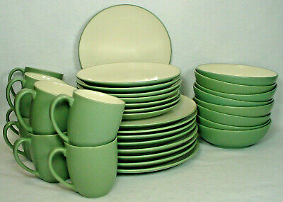 NORITAKE CHINA COLORWAVE GREEN 8485 pattern 32-pc SET SERVICE for ...