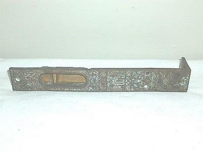 Antique Ornate Brass Flush Mount Eastlake Sliding Door Lock-BL