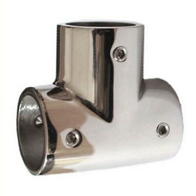 Delicate 90 degree Stainless Steel Tee Joint Marine Yacht 25mm