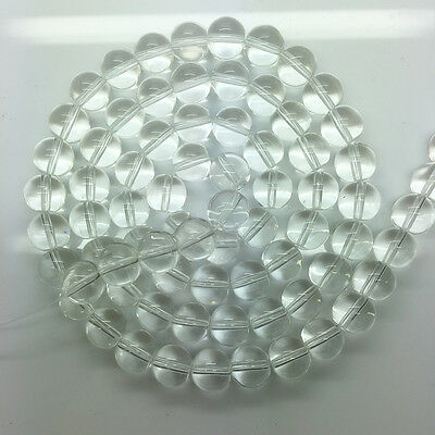 New 6mm 50pcs transparent Glass Pearl Round Spacer Loose Beads Jewelry Making