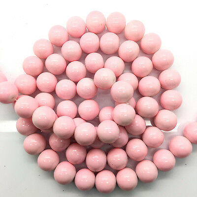 New 8mm 30pcs Pink Glass Pearl Round Spacer Loose Beads Jewelry Making