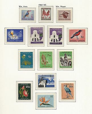 South Africa 1961 Definitive Issue. First print. MNH